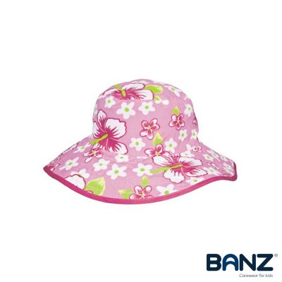 Pink-Floral-Reversible-Hat-Baby-Banz-Hats-for-Kids-and-Babies