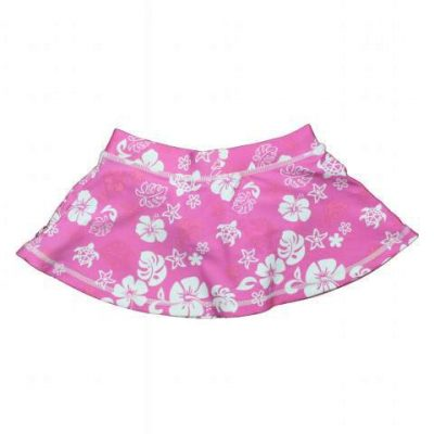 Pink_White_Skirt__Pink Floral Swim Skirt by Baby Banz Africa