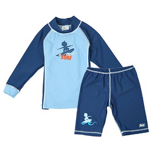Shirt Only Swimwear-Baby Banz--UV-Rash-Shirt-Blue-Dark Blue Long Sleeve Rash Shirt--