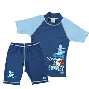 Swimwear-Baby Banz--UV-Rash-Shirt-Blue-Dark Blue Short Sleeve Rash Shirt--