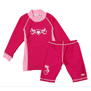 Swimwear-Baby Banz--UV-Rash-Shirt-Dark Pink Long Sleeve Shirt Only--
