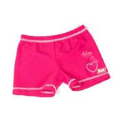 Swimwear-Pink Bikini Mermaid Rash-Shorts-by-Baby-Banz