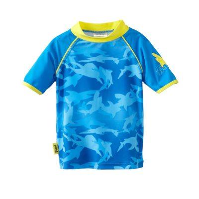Swimwear---Rash-Shirt---Blue-Fin-Frenzy Rash Shirt