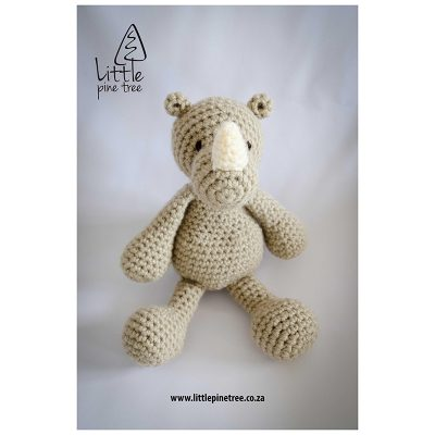 Taupe Rhino---Little-Pine-Tree-Toys-buy-from-BabyBanz.co.za