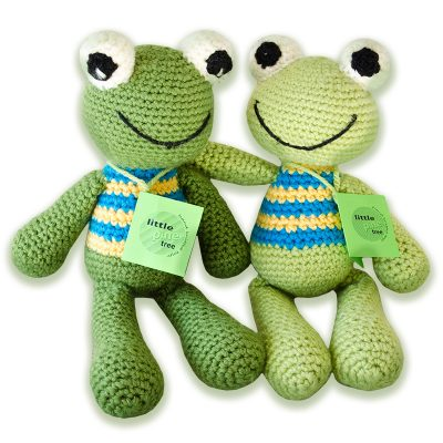 Jozi-Dolls & Animals - Hand Knitted Toy Frogs - Made by an NGO project in South Africa - buy from www.babybanz.co.za