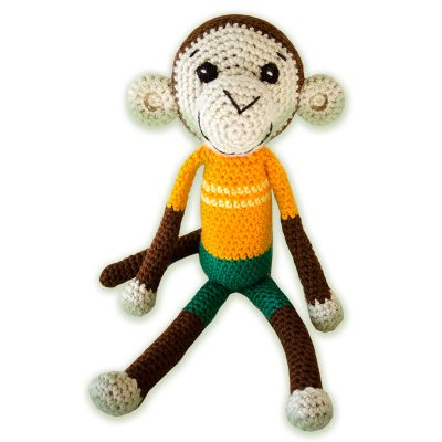 Jozi-Dolls & Animals - Hand Knitted Monkey Toy for Kids & Adults - an NGO Project - buy from babybanz.co.za