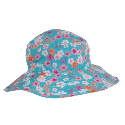 girls-flower-patterned-bucket-hat-reversible-hat-baby-banz