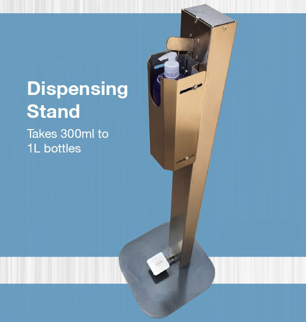 Hand Sanitiser Dispensing Stand - AAI SAFETY WEAR MADE IN SOUTH AFRICA