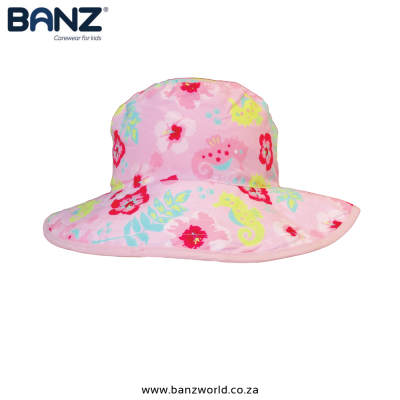 Big-Flower-Pink-Reversible-Banz-Baby-Hat-Banz-Baby-and-Kids-Hats-turqouise-Pink-Green-www.banzworld.co_.za
