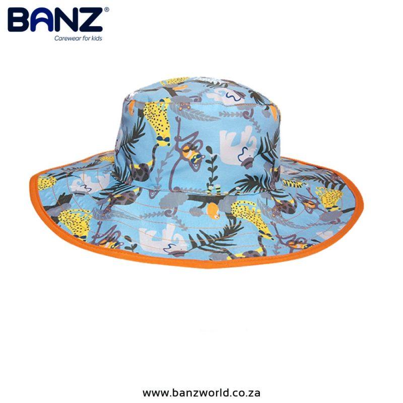 Jungle Reversible Banz Baby Hat and Kids Hats - Blue Orange Yellow www.banzworld.co.za
